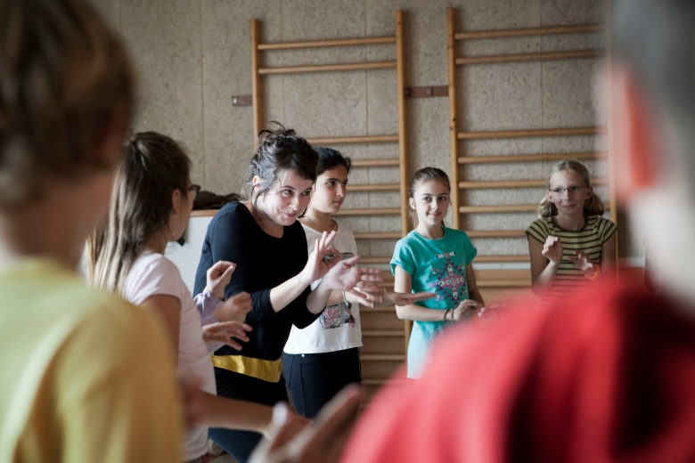Atelier vocal à l'école