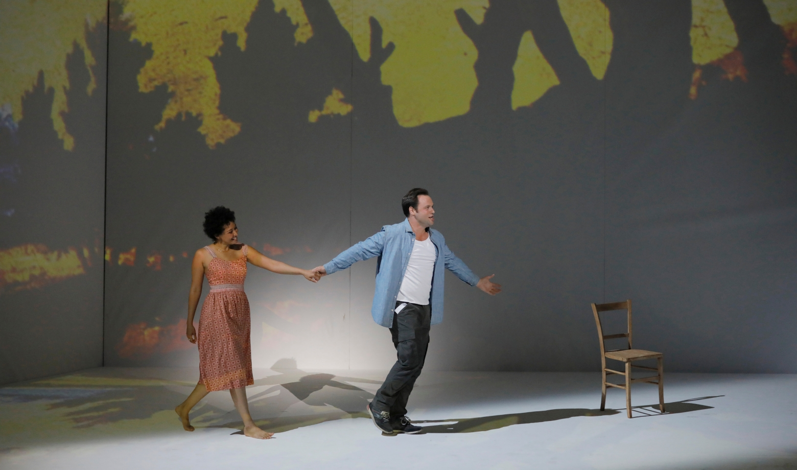 Paul Appleby et Julia Bullock dans The Rake's Progress - Festival d'Aix-en-Provence 2017